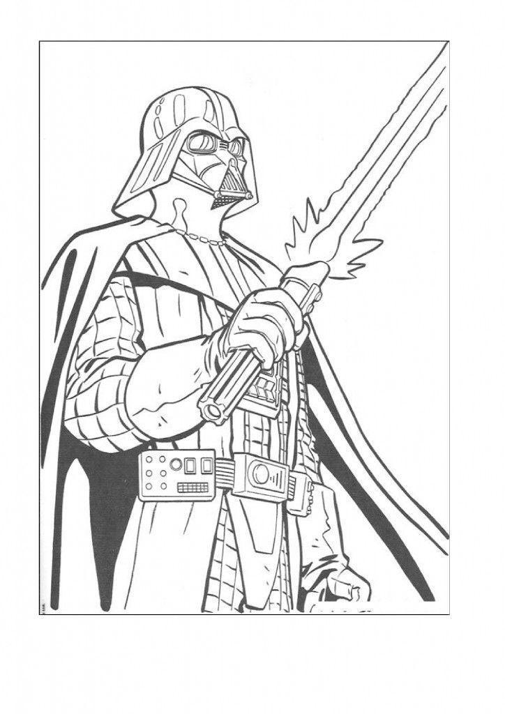 Jogo Desenhos do Star Wars para imprimir e colorir no