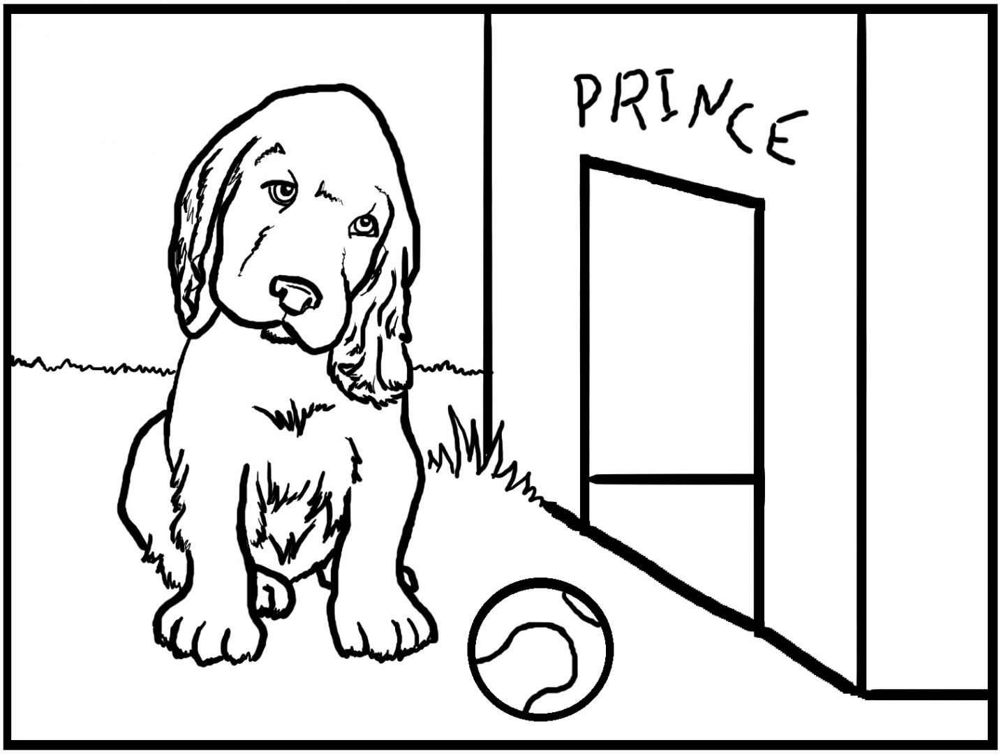 Desenho para pintar de um cão :: Fotos e imagens