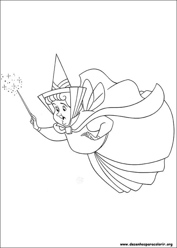 Dibujos Para Colorear Princesa Flora