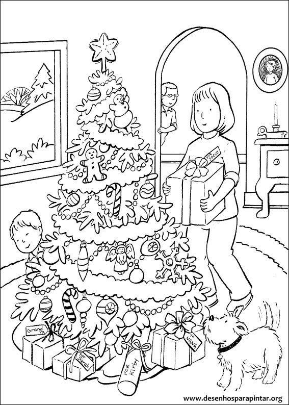 Árvores de Natal para imprimir colorir e pintar