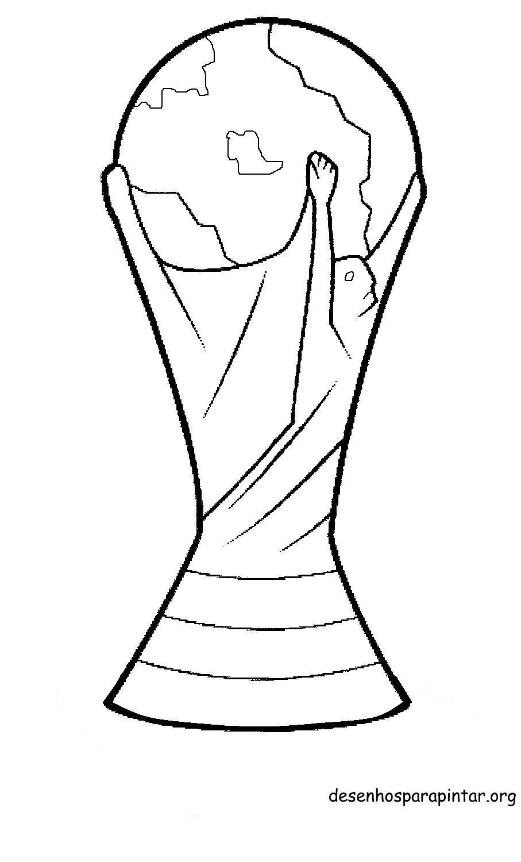 Símbolos e taça da copa 2014