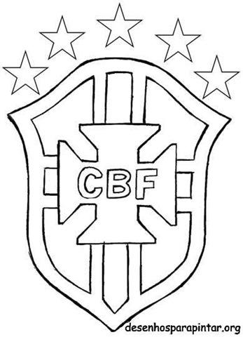 Escudo e camisa da Seleção Brasileira CBF