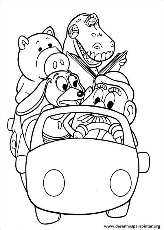 Toy Story Desenhos Para Imprimir Colorir E Pintar Do Woody
