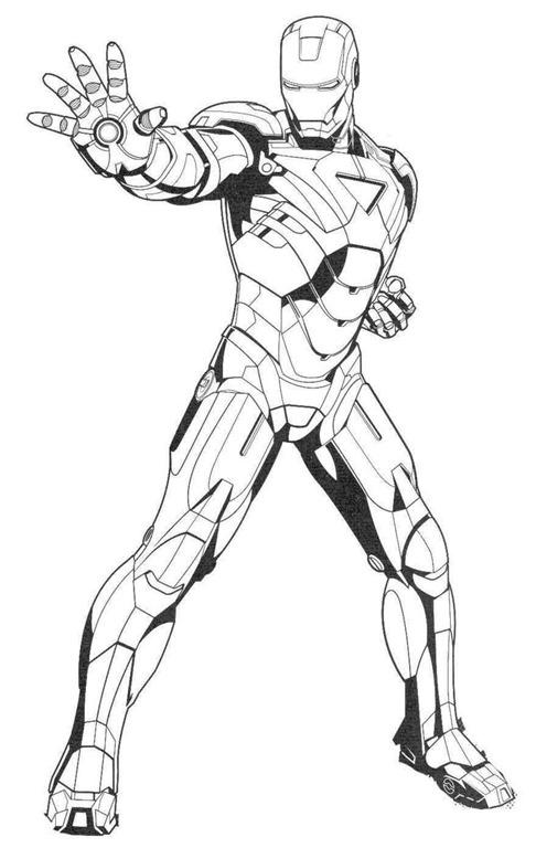 Homem De Ferro Iron Man Desenhos Para Colorir Imprimir E