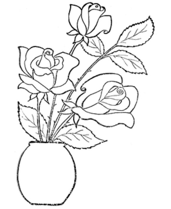desenhos de Flores para adultos e crianças imprimir