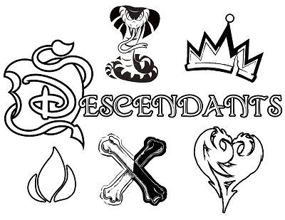 Descendentes da Disney desenhos para imprimir colorir e
