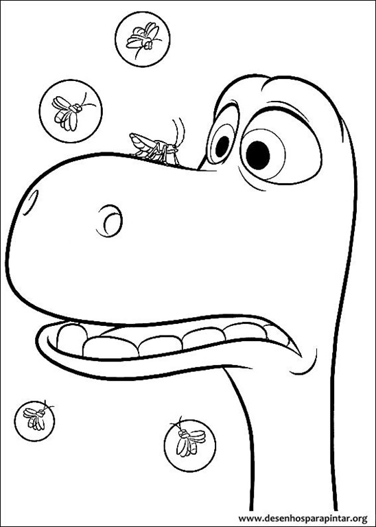 O Bom Dinossauro Para Colorir