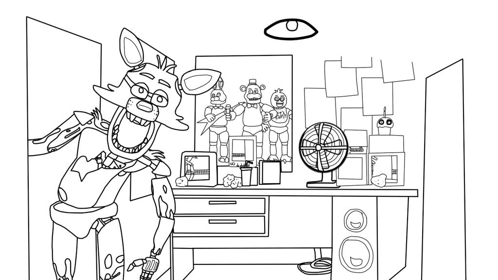 Five Nights at Freddys desenhos para colorir imprimir e