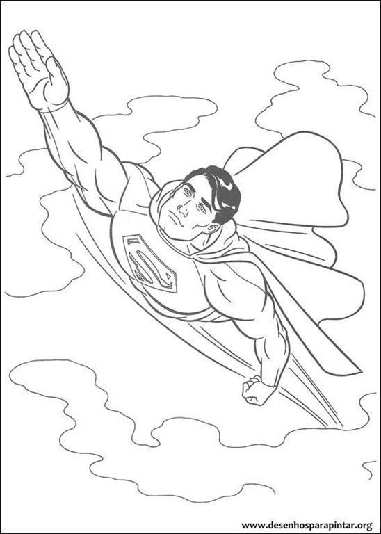 Superman desenhos para colorir imprimir e pintar do Super