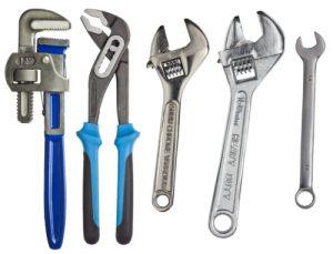 ferramentas de desentupimentos de esgotos simples.