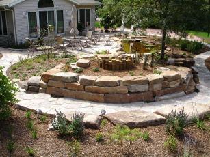 desertscape landscaping retaining