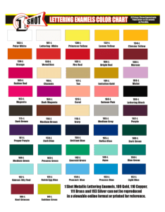One shot paint color chart  also rh desertartsupplies