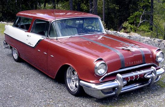 1955 Pontiac Star Chief Custom Safari Station Wagon For Sale