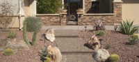 Stone Courtyard Walls - Phoenix, Arizona Landscape Design ...