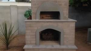 Brick Pizza Oven Outdoor Fireplace: Phoenix Desert