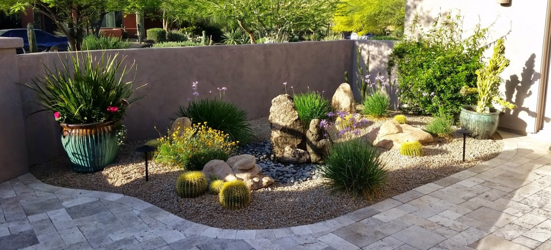 Bubbling Rocks Courtyard Fountain Scottsdale  Desert
