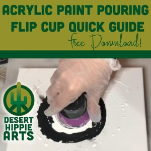 Acrylic Paint Pouring Flip Cup