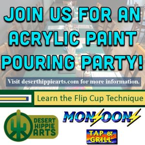 Monsoons Tap and Grill Acrylic Paint Pouring Party