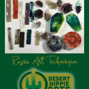 How to color or dye resin