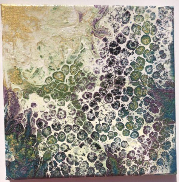 """Praise the Sun"" acrylic pour painting"