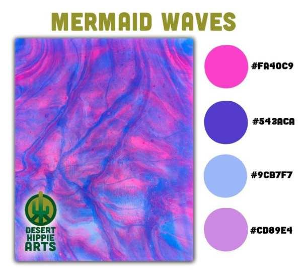 Mermaid Waves Color Scheme Desert Hippie Arts