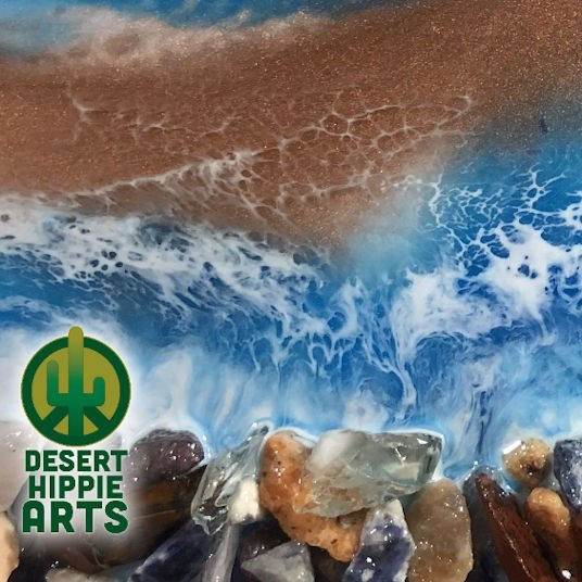 Desert Hippie Arts Rocky Waters Resin Art 3