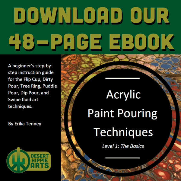 Download 600x600a Beginners acrylic paint pouring ebook Desert Hippie Arts