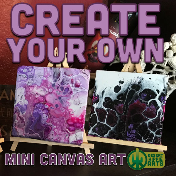 Create your own MINI CANVAS ART Desert Hippie Arts 1