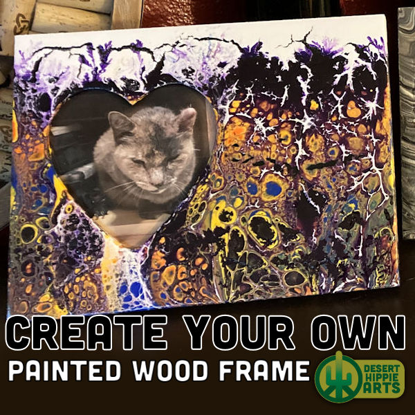 Create your own PAINTED WOOD FRAME Desert Hippie Arts 1
