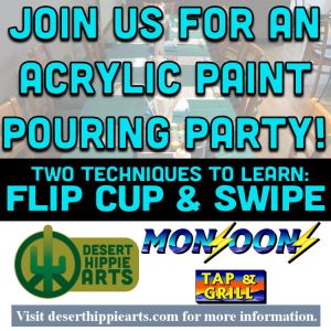 Monsoons Tap and Grill Acrylic Paint Pouring Party June 22 2021