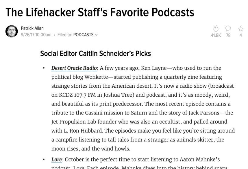 Desert Oracle Radio Podcast Caitlin Schneider