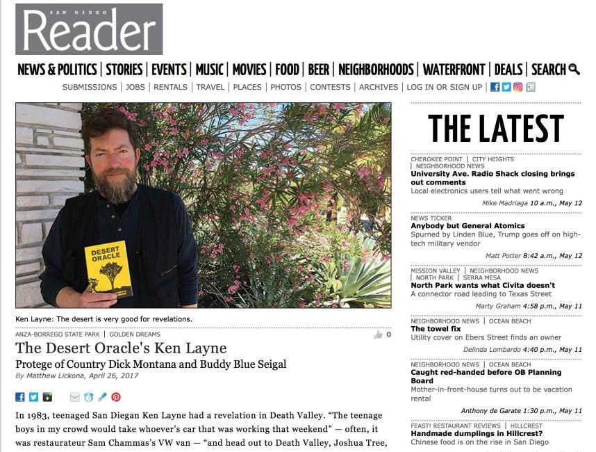 San Diego Reader: Desert Oracle's Ken Layne