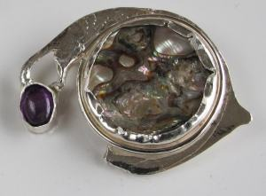 Dix Abalone Brooch