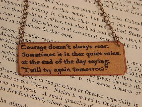 Sarah Wood Jewelry - Courage Doesn't always roar necklace