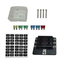details about 6 way hot rod custom race car 12v blade fuse box block cover led indicators [ 1600 x 1600 Pixel ]