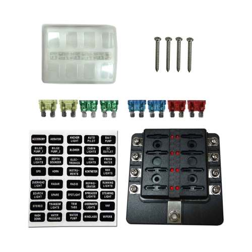 small resolution of details about 8 way rv farm construction diesel 12v blade fuse box block cover led indicators