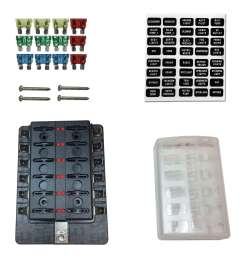 details about 12 way rv farm construction diesel 12v blade fuse box block cover led indicators [ 1800 x 1800 Pixel ]