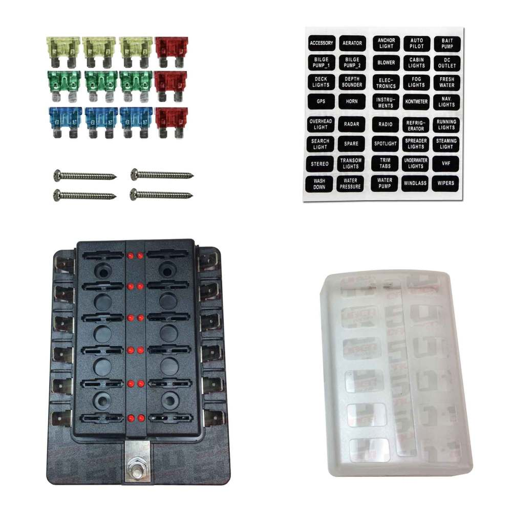 medium resolution of details about 12 way rv farm construction diesel 12v blade fuse box block cover led indicators