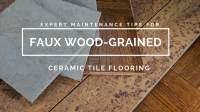 Faux Wood-Grained Ceramic Tile Flooring | Desert Tile ...