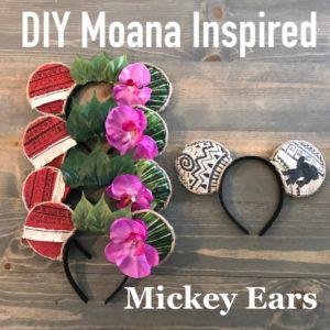 DIY Moana Inspired Mickey Ears