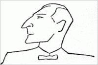 Ernst May-Karikatur von Lino Salini
