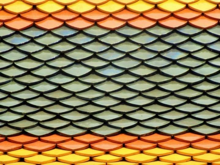 Tuiles multicolores