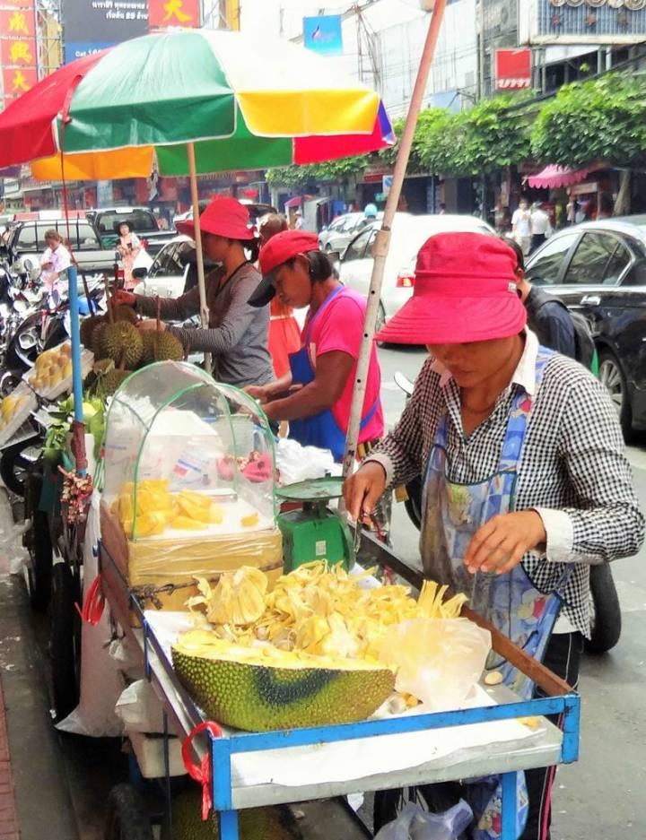 Marchande de Durian