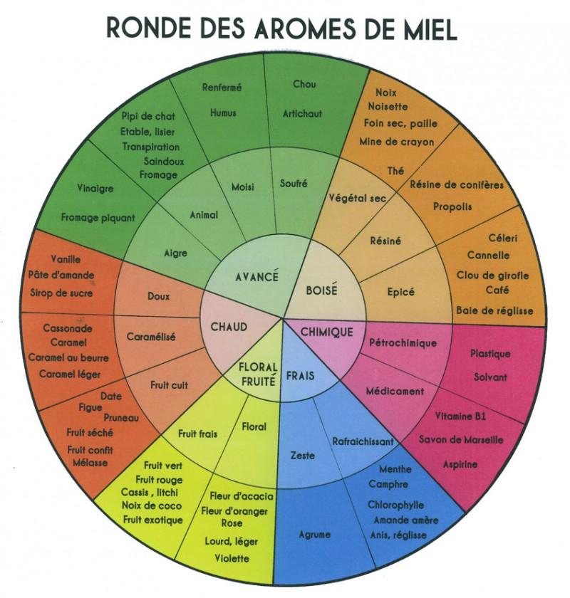 """Résultat de recherche d'images pour """"roue des odeurs et aromes des miels"""""""