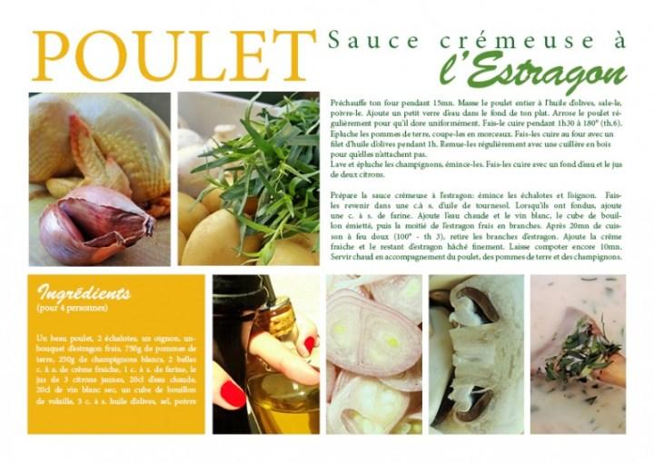 Poulet sauce crémeuse à l'Estragon