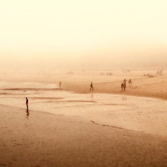 Brouillard sur la plage