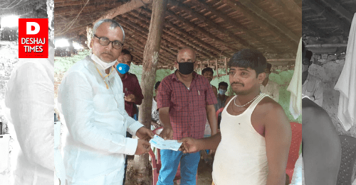 darbhanga-news-benipur-mla-vinay-choudhary-who-was-hurt-by-the-death-of-the-child-by-drowning-in-benipur-reached-to-provide-relief