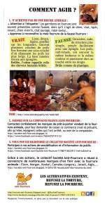Tract d'information de Société Anti-Fourrure_verso