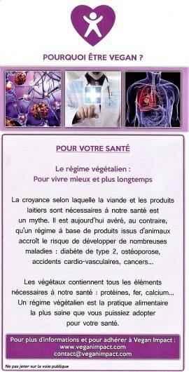 Volet 4 du tract Vegan Impact distribué à Paris au Salon de l'Agriculture 2017