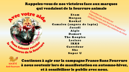 Societe Anti-Fourrure_Le recul des marques